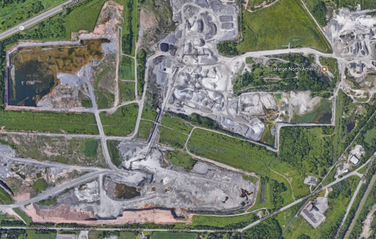 Lafarge's Lockport quarry. (Google maps)