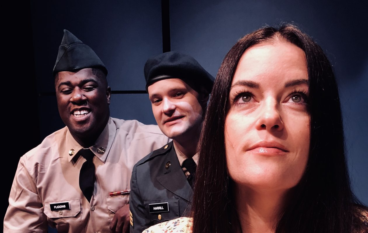 Michele Marie Roberts gives a tremendous performance in the title role of 'Violet' at Musicalfare Theatre. Co-starring are Dudney Joseph,  left, and Patrick Cameron.