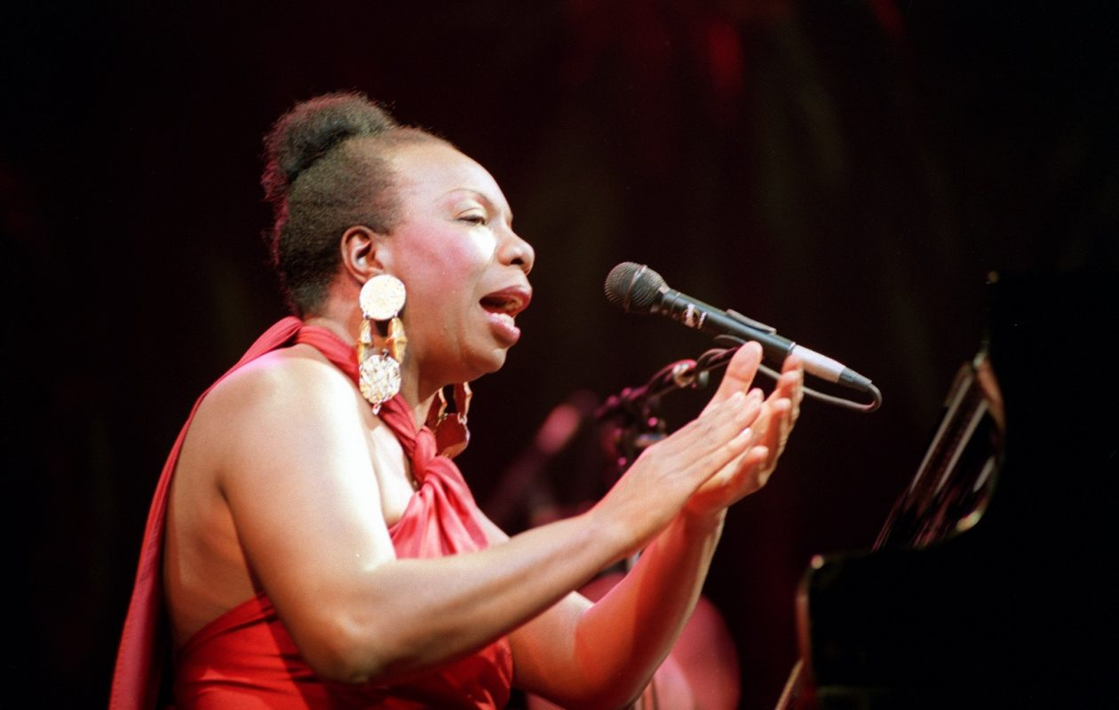 Legendary jazz and blues singer Nina Simone in concert in 1991 at the Olympia music hall in Paris. (BERTRAND GUAY/AFP/Getty Images)