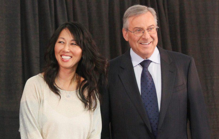 Kim and Terry Pegula, owners of the Buffalo Sabres and Buffalo Bills. (News file photo)
