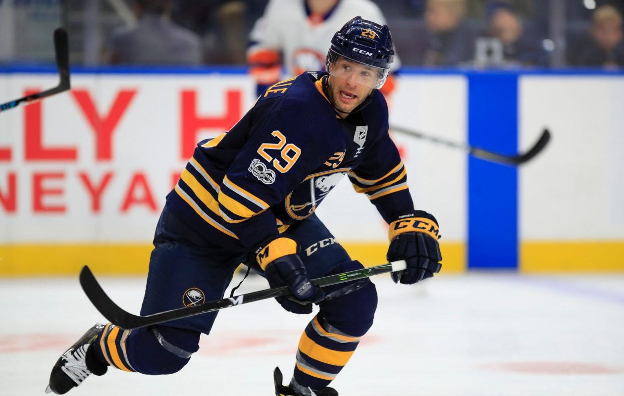 Jason Pominville said the Sabres need to play with more pace (Harry Scull Jr./Buffalo News).