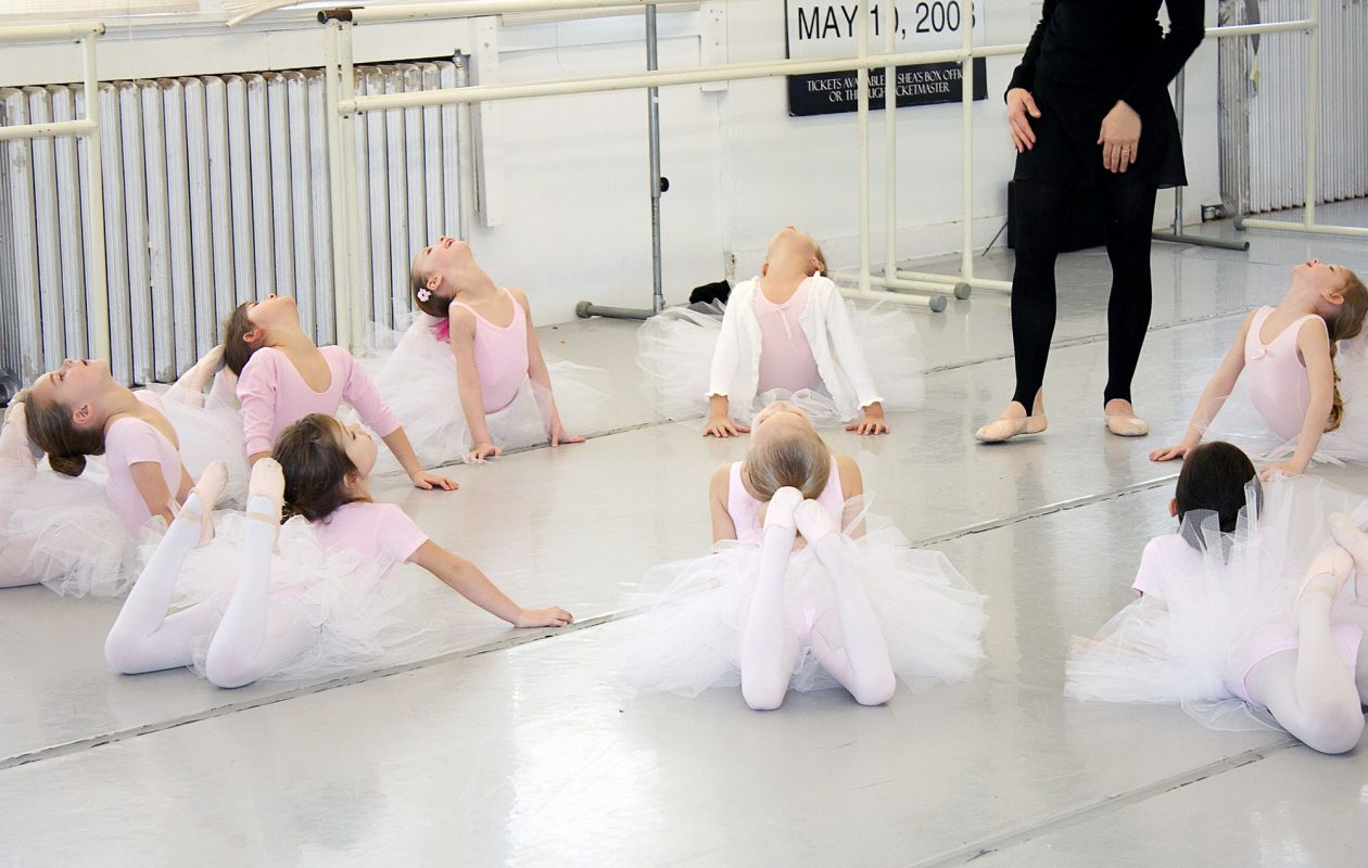 A pre-ballet class at Neglia with instructor Angela Hastings.