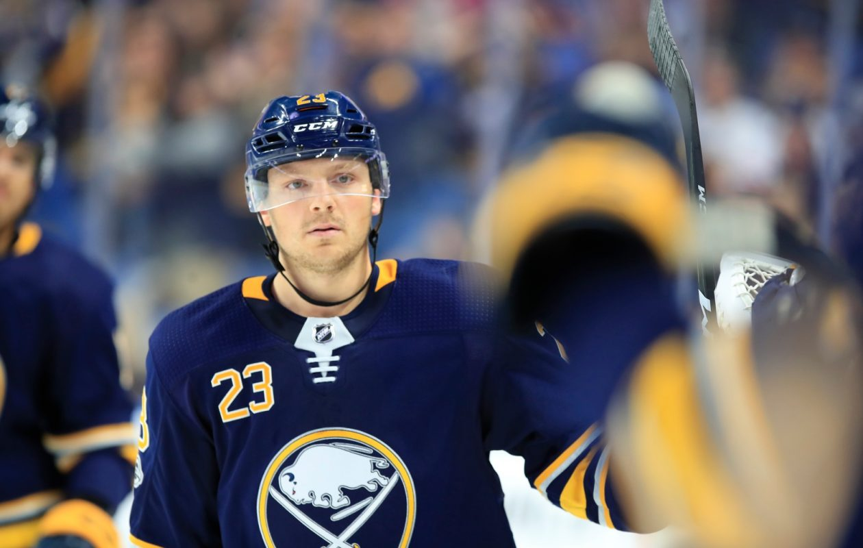 Sam Reinhart on Jack Eichel's new deal: 'It's motivation to join him for the next couple of years.' (Harry Scull Jr./Buffalo News).
