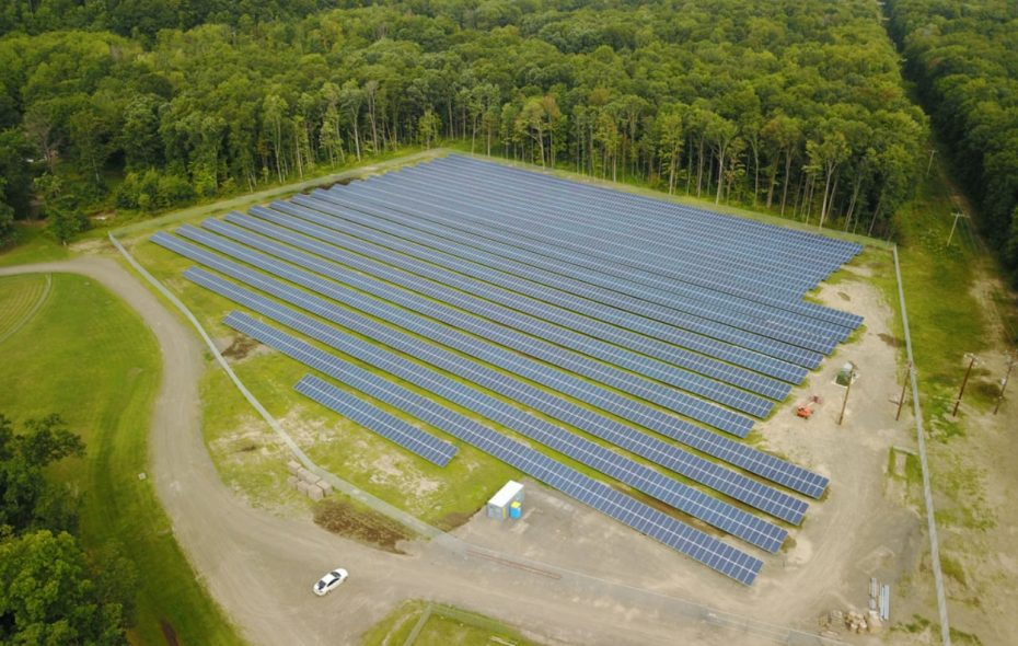 The $3.4 million Seneca Nation solar array in Steamburg can produce 1.9 megawatts of electricity, enough to power 230 homes. (Courtesy: Seneca Energy)