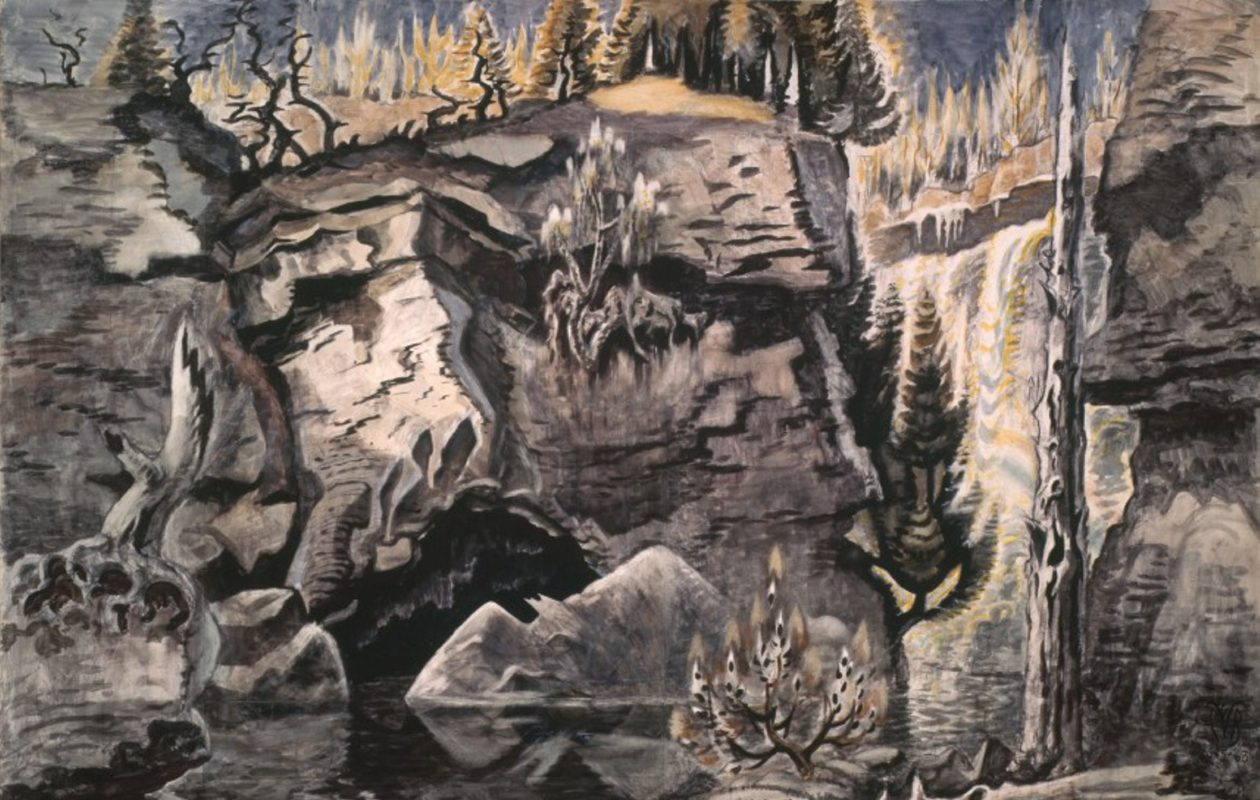 Charles Burchfield's 'Solitude' was the inspiration for a poem written by Karen Lee Lewis.