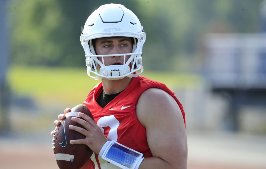 UB quarterback Drew Anderson on Wednesday, Aug. 2, 2017.(Harry Scull Jr./Buffalo News)