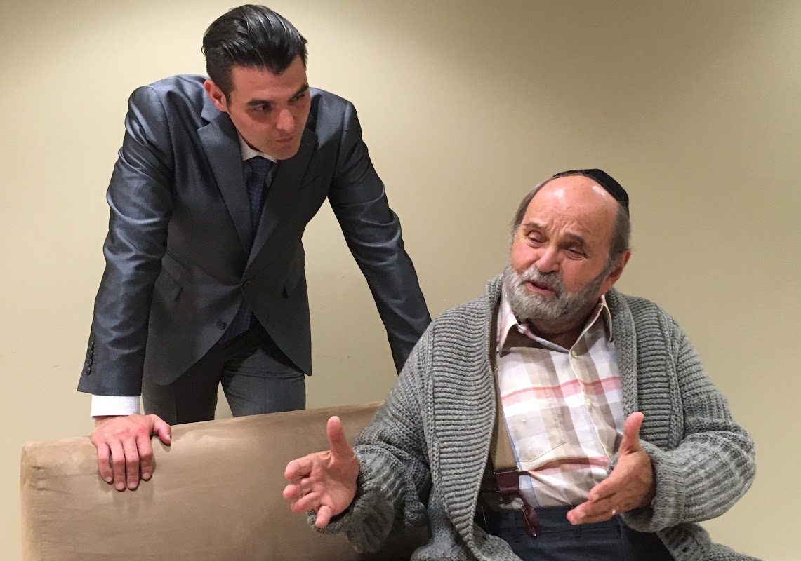 Nick Stevens, left, and Saul Elkin are featured in the Jewish Repertory Theatre's production of 'Visiting Mr. Green.'