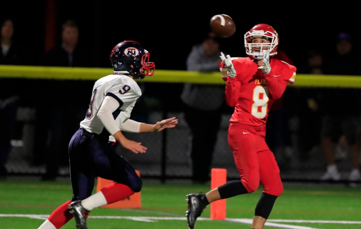 Nick Kieffer and the Williamsville East Flames face Kenmore West on Saturday afternoon. (Harry Scull Jr./Buffalo News)