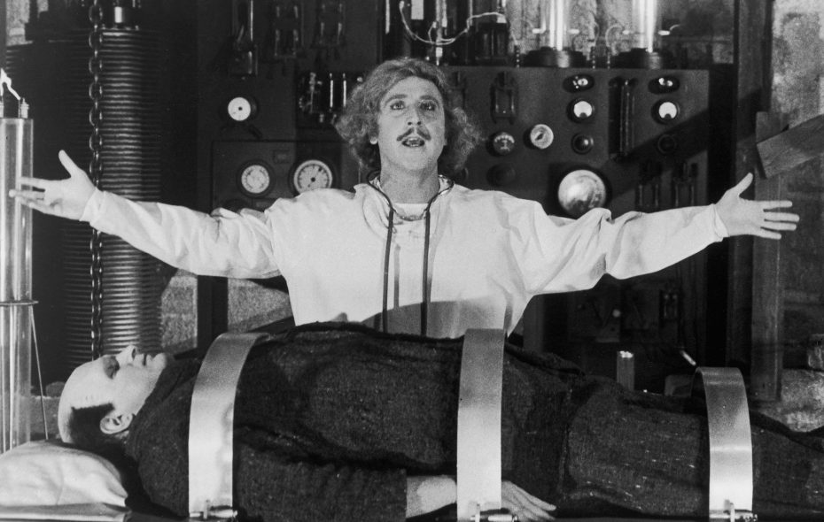 "Gene Wilder stars in the Mel Brooks comedy ""Young Frankenstein."""