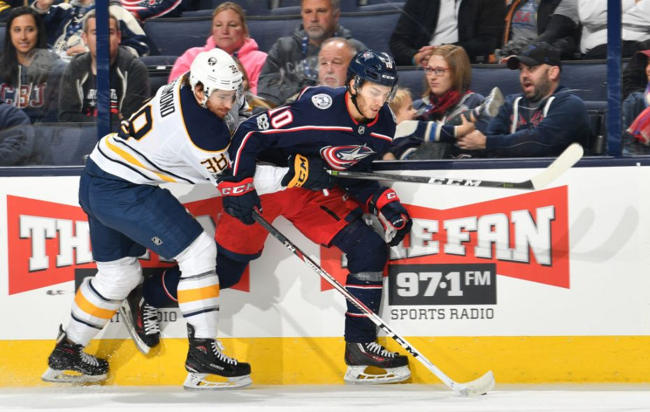 Zach Redmond played two games for the Sabres (Getty Images).