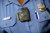 Erie County Sheriff's Deputy Mike Sluberski wears a body camera in October 2017 as part of a pilot program. The Sheriff's Office has now agreed to adopt the cameras permanently. (Mark Mulville/News file photo)