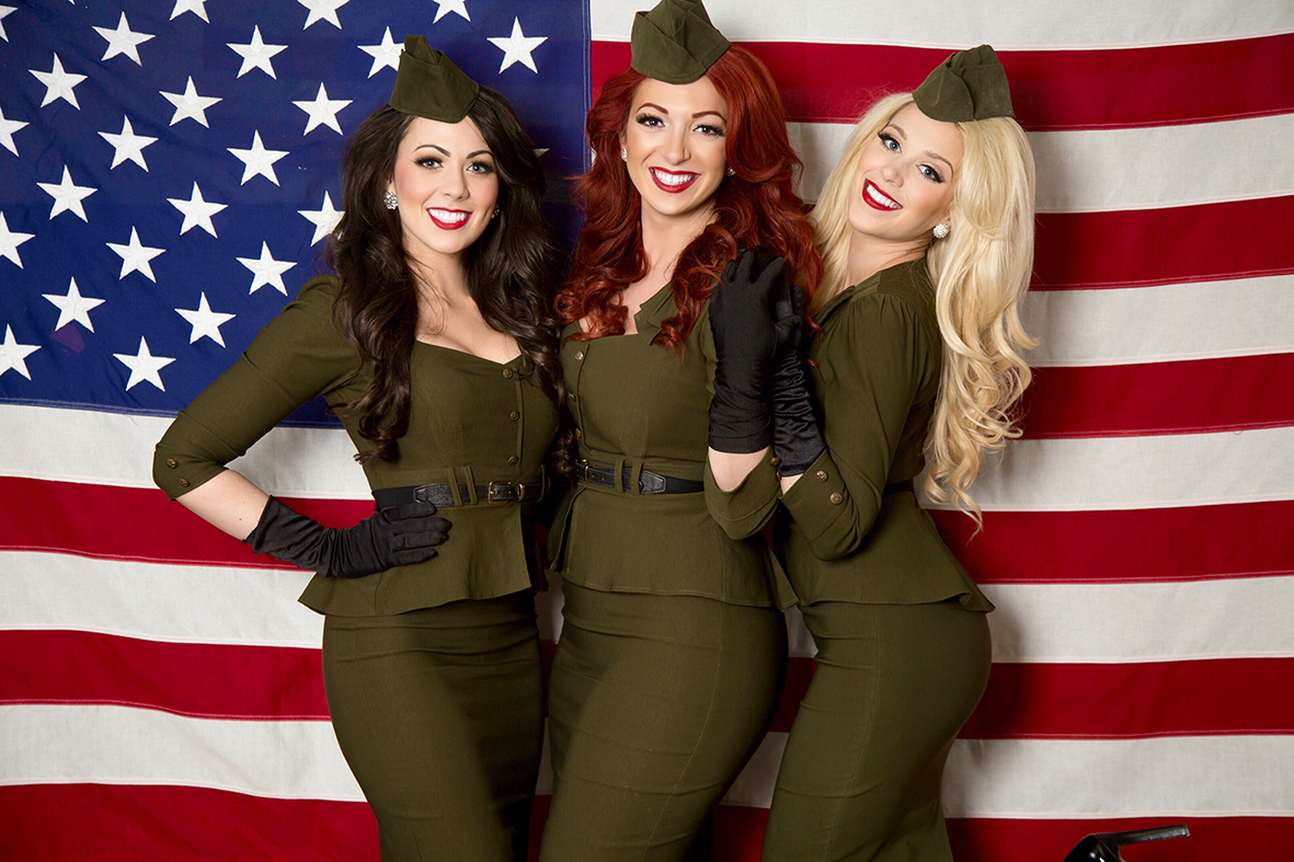 The American Bombshells put a modern spin on the Andrews Sisters.