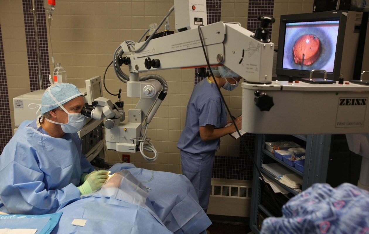 Dr. Kenneth D. Anthone performs cataract surgery in Williamsville. (Buffalo News file photo)