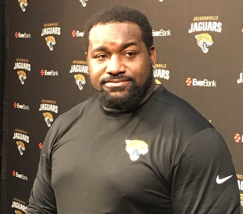 Marcell Dareus at a news conference in Jacksonville during the season. (Buffalo News file photo)