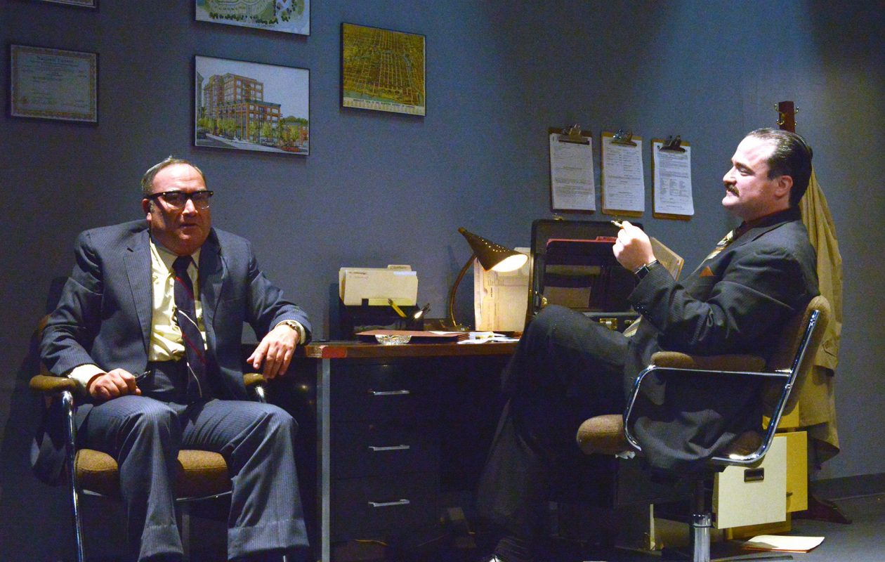 David Mitchell and Matt Witten appear in Road Less Traveled Theatre's production of 'Glengarry Glen Ross.'