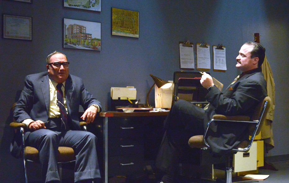 "David Mitchell and Matt Witten appear in Road Less Traveled Theatre's production of ""Glengarry Glen Ross."""