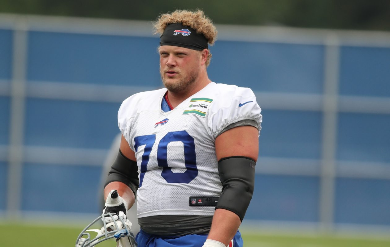 Bills center Eric Wood is in his ninth season with the team. (James P. McCoy/Buffalo News)