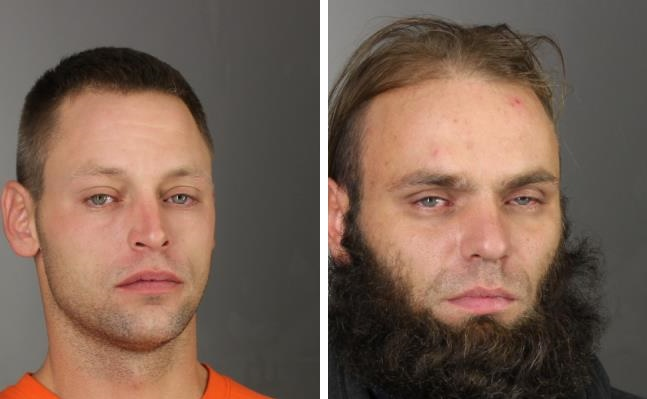 James Trala, left, of Depew, and Phillip Muzzy, of Lackawanna, were both being held at the Erie County Holding Center. (Photos courtesy Erie County Sheriff's Office)
