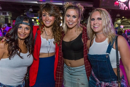 Smiles at the 90s Rise Again Party in RiverWorks