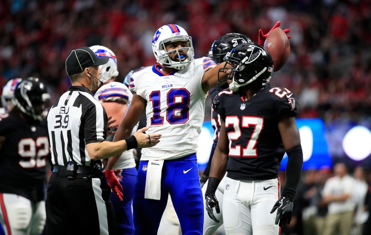 Bills receiver Andre Holmes has taken nearly half of the team's 256 offensive snaps through four games. (Harry Scull Jr./Buffalo News)