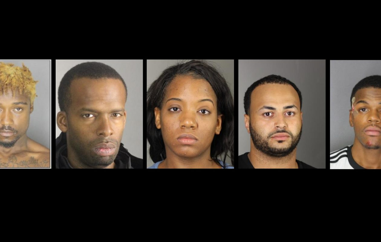 From left, Melvin Williams, 20; Demetrise Oaks, 36; Tianna Hunter, 24; Indaleccio Rodriguez, 27; and Dijon Brown, 24. (Photos courtesy Erie County Sheriff's OFfice)