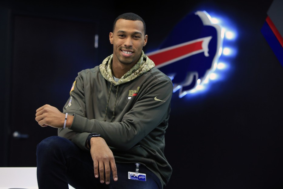 Jeremy Kelly is the Bills' alumni relations manager (Photo: Harry Scull Jr./Buffalo News)