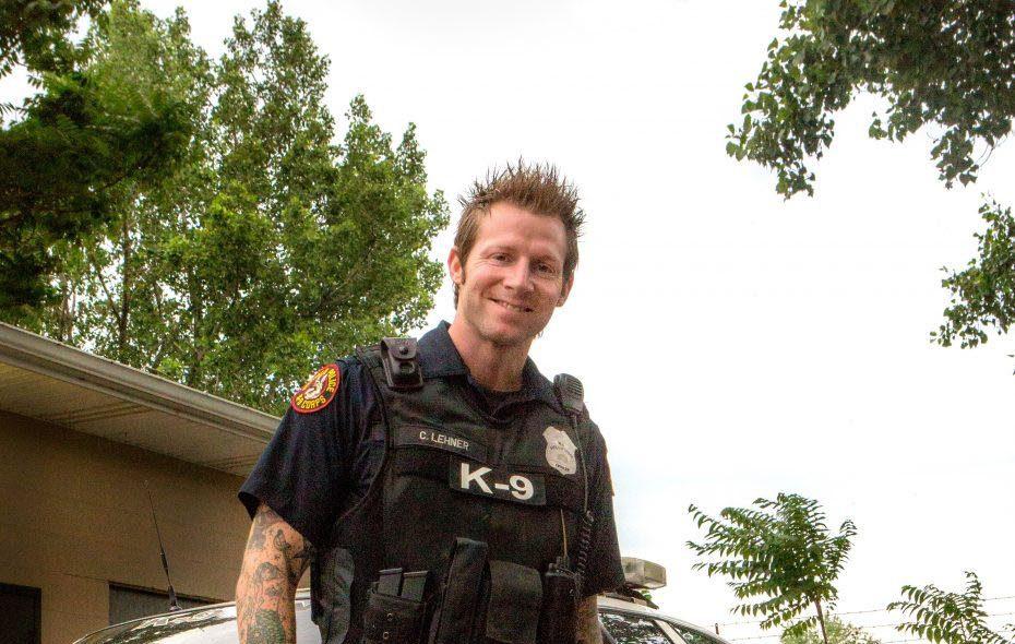 Craig Lehner had named his K-9 Shield in honor of fallen Officer James Shields. (Photo courtesy of Shannon Davis)
