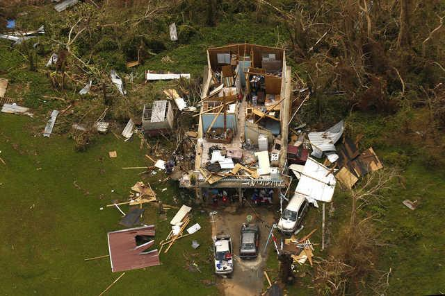 Devastation in Puerto Rico caused by Hurricane Maria. (Los Angeles Times photo)