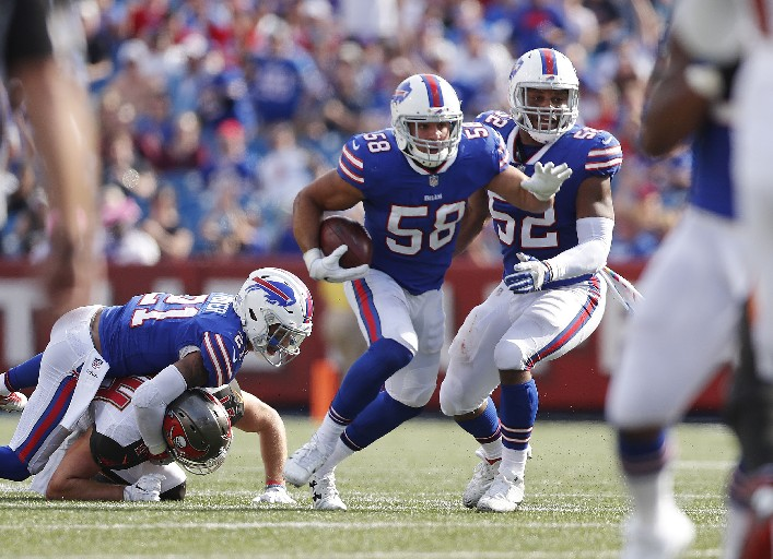Linebacker Matt Milano has shown he's got big-play ability in two seasons with the Bills. (Mark Mulville/Buffalo News)