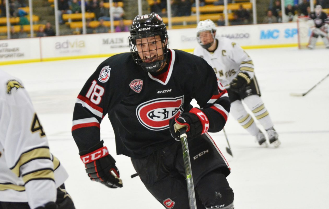 Judd Peterson and the St. Cloud State Huskies are off to a good start. (Photo courtesy of St. Cloud State)