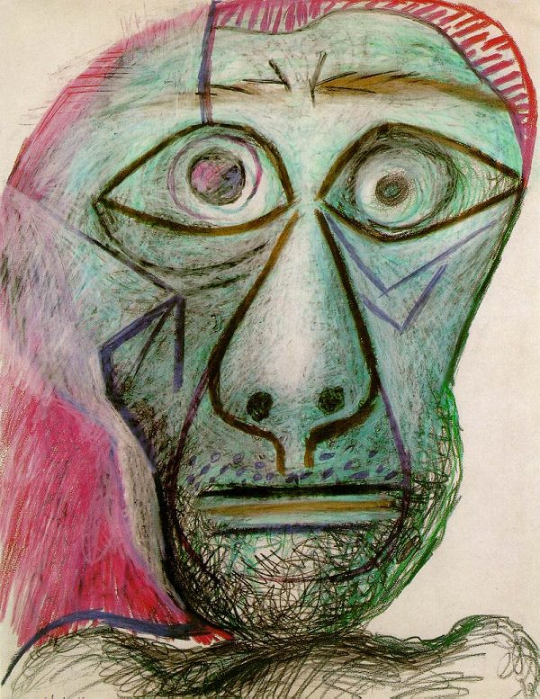 Pablo Picasso self-portrait (1972)