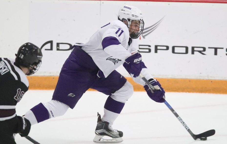 Niagara's Derian Plouffe has 11 points to start his senior season. (Niagara Athletic Communications)