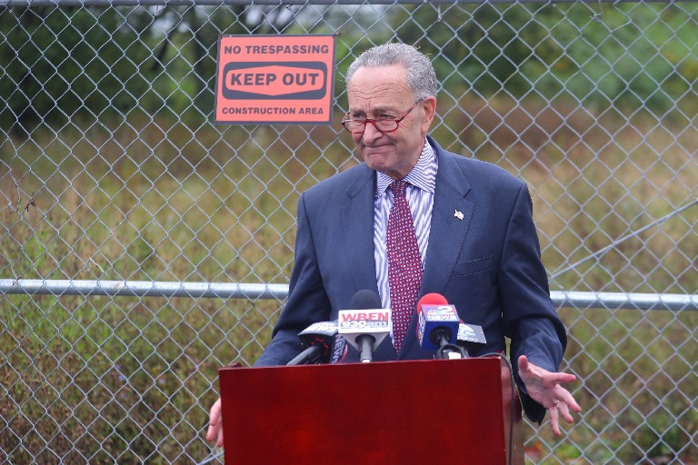 Sen. Charles Schumer is pushing for a veterans cemetery in Pembroke. (John Hickey/Buffalo News)
