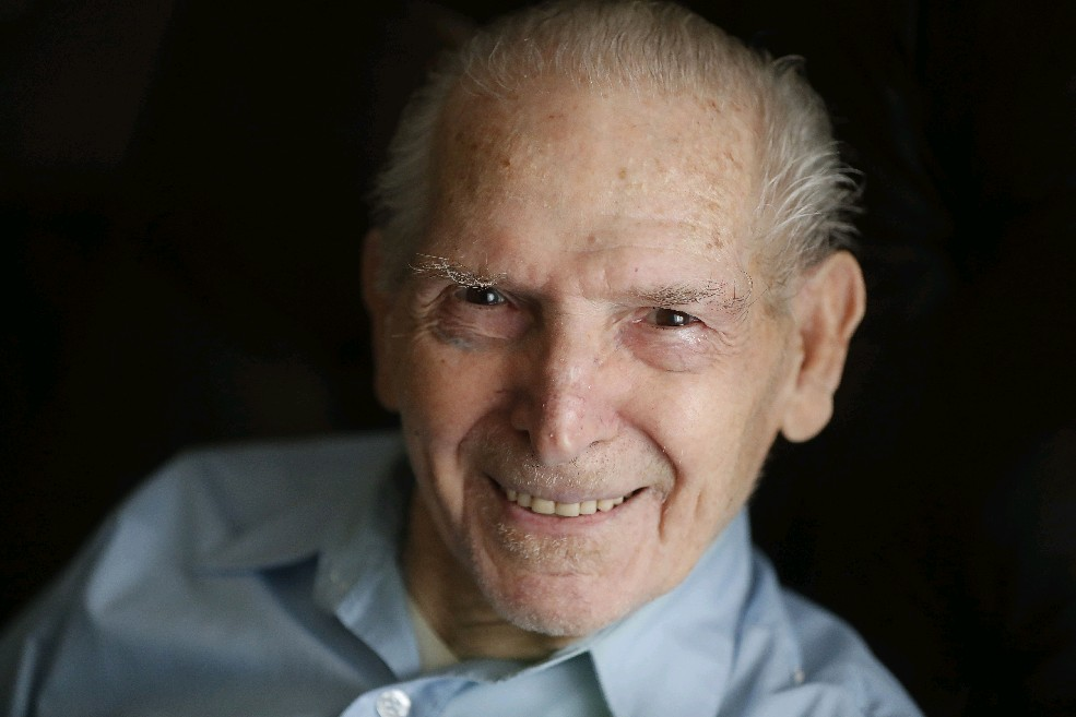 Edward J. Lattuca Sr. signed up for Marines alone one morning after his buddies, who had vowed the night before to enlist, failed to show up. (Mark Mulville/Buffalo News)