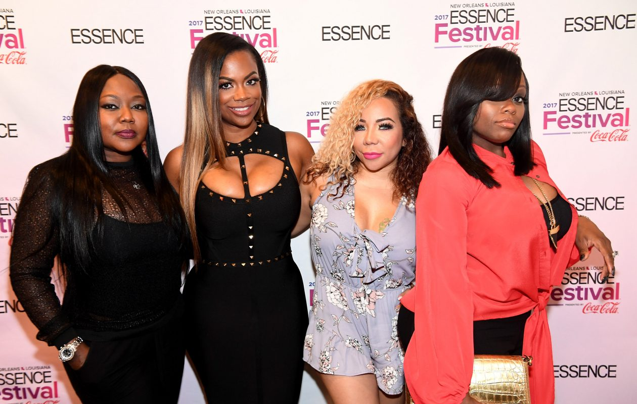 LaTocha Scott, left, Kandi Burruss, Tameka 'Tiny' Harris and Tamika Scott of Xscape will perform at KeyBank Center. (Getty Images)
