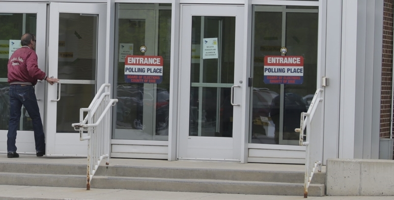 Erie County voters head to the polls Tuesday to cast ballots for sheriff, clerk and comptroller . (News file photo)