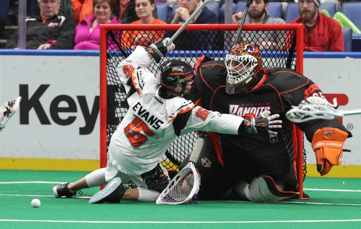 Davide DiRuscio has been the Bandits backup goalie for the past three seasons. (James P. McCoy/Buffalo News)