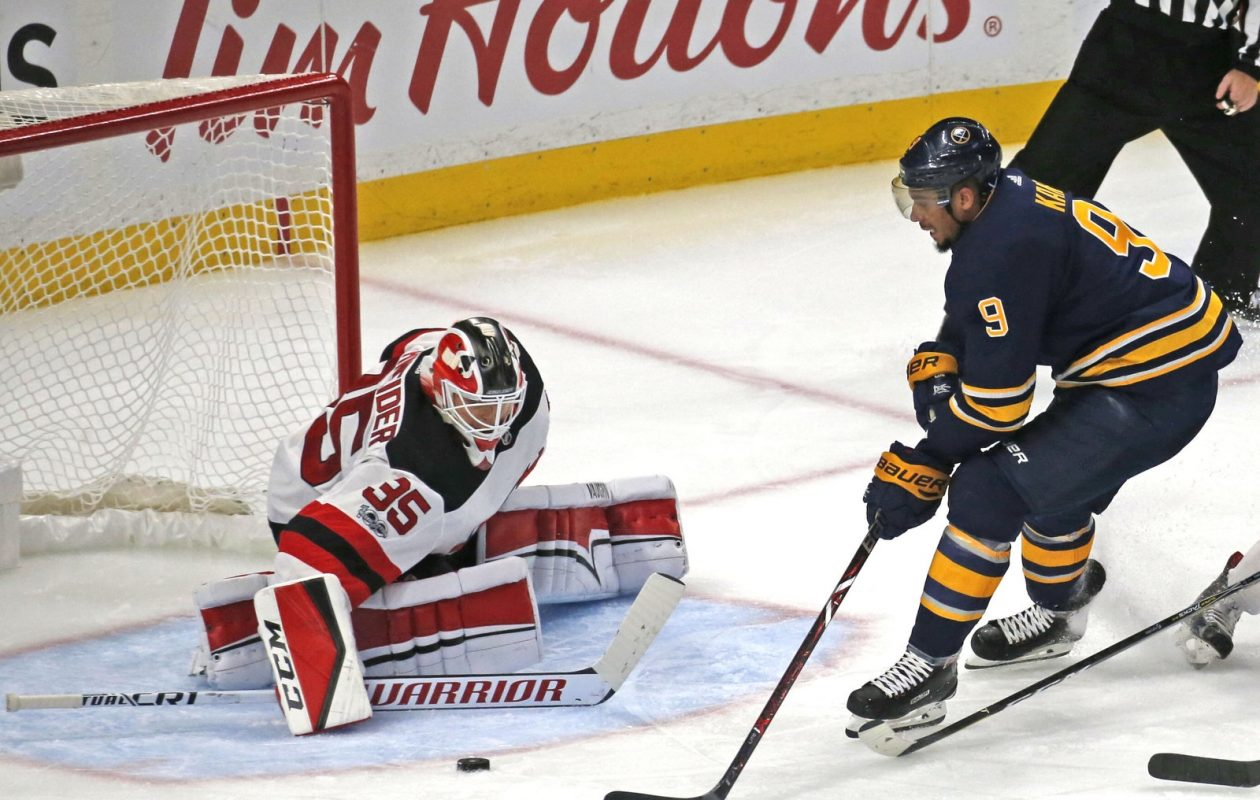 Evander Kane led the Sabres in goals last season, and he's atop the chart again this year. (Robert Kirkham/Buffalo News)