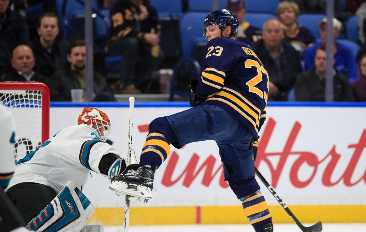 Sam Reinhart and the Sabres' power play haven't been able to get a leg up on the opponents. (Harry Scull Jr./News file photo)