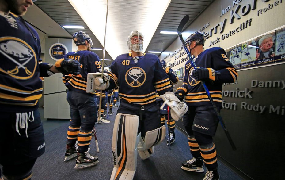 Robin Lehner will start for the Sabres Tuesday night. (Harry Scull Jr./Buffalo News)