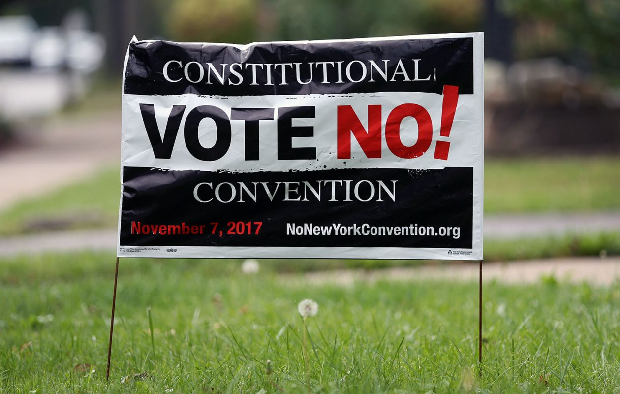 A proposal calling for a state constitutional convention met strong opposition before Election Day and at the polls. (Sharon Cantillon/News file photo)
