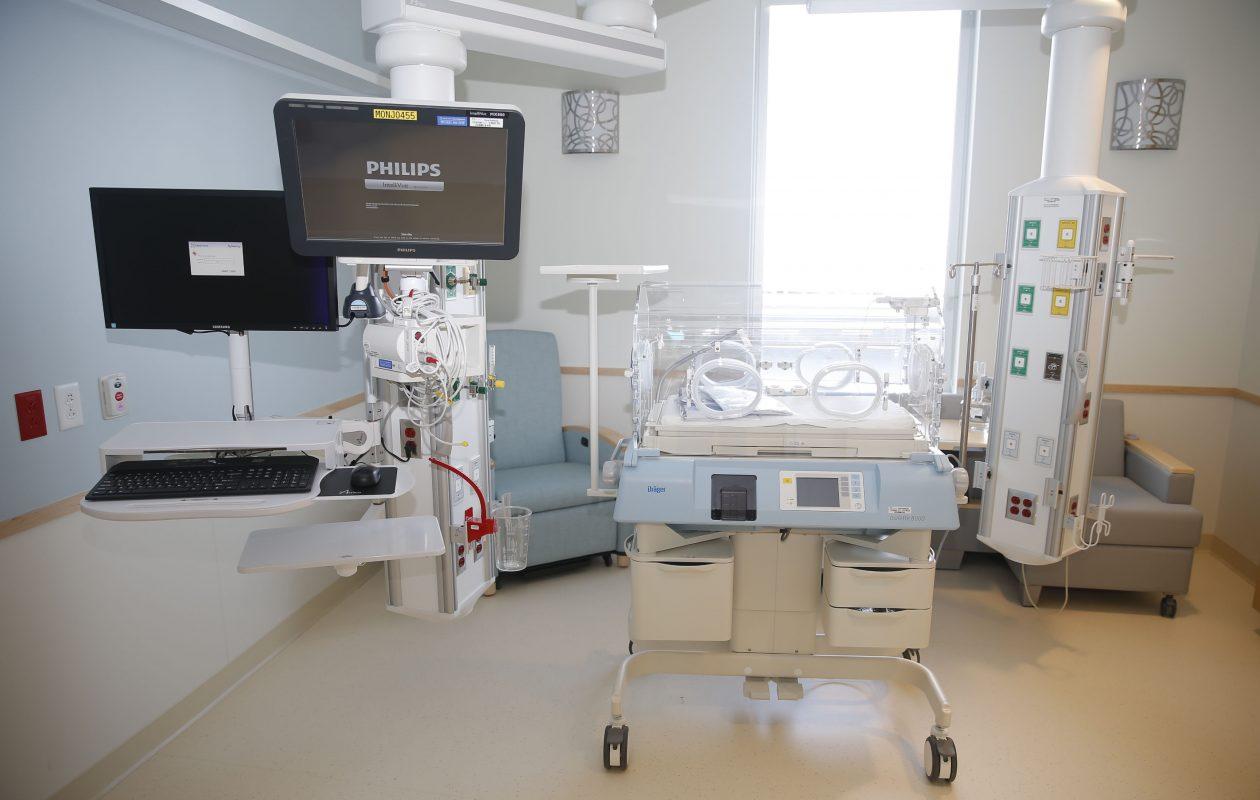 The latest technology has been installed in a neonatal treatment room at Oishei Children's Hospital in Buffalo.  (Robert Kirkham/Buffalo News)