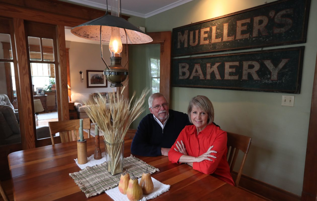 John and Jessica Cronenberger in the dining room of their home. (Sharon Cantillon/Buffalo News)