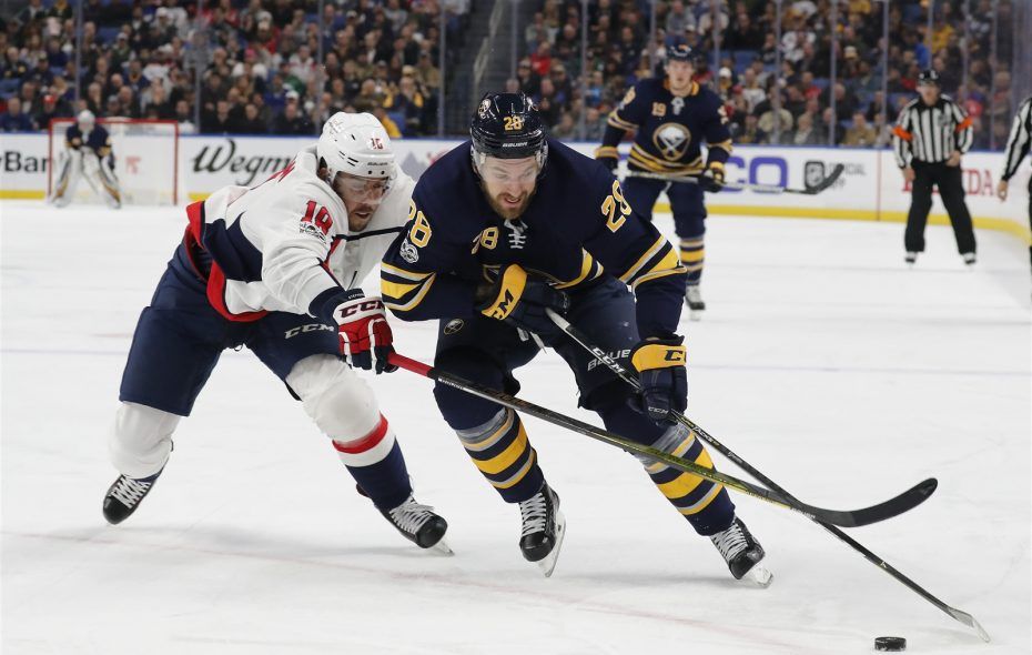 Zemgus Girgensons and the Sabres have fallen to last in the NHL in scoring. (Mark Mulville/News file photo)