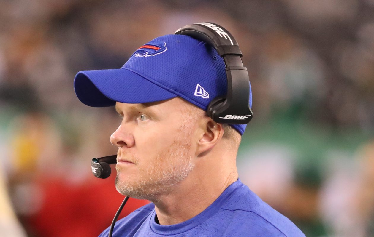 The Bills' Sean McDermott had plenty of advice for prospective NFL head coaches. (James P. McCoy/Buffalo News)
