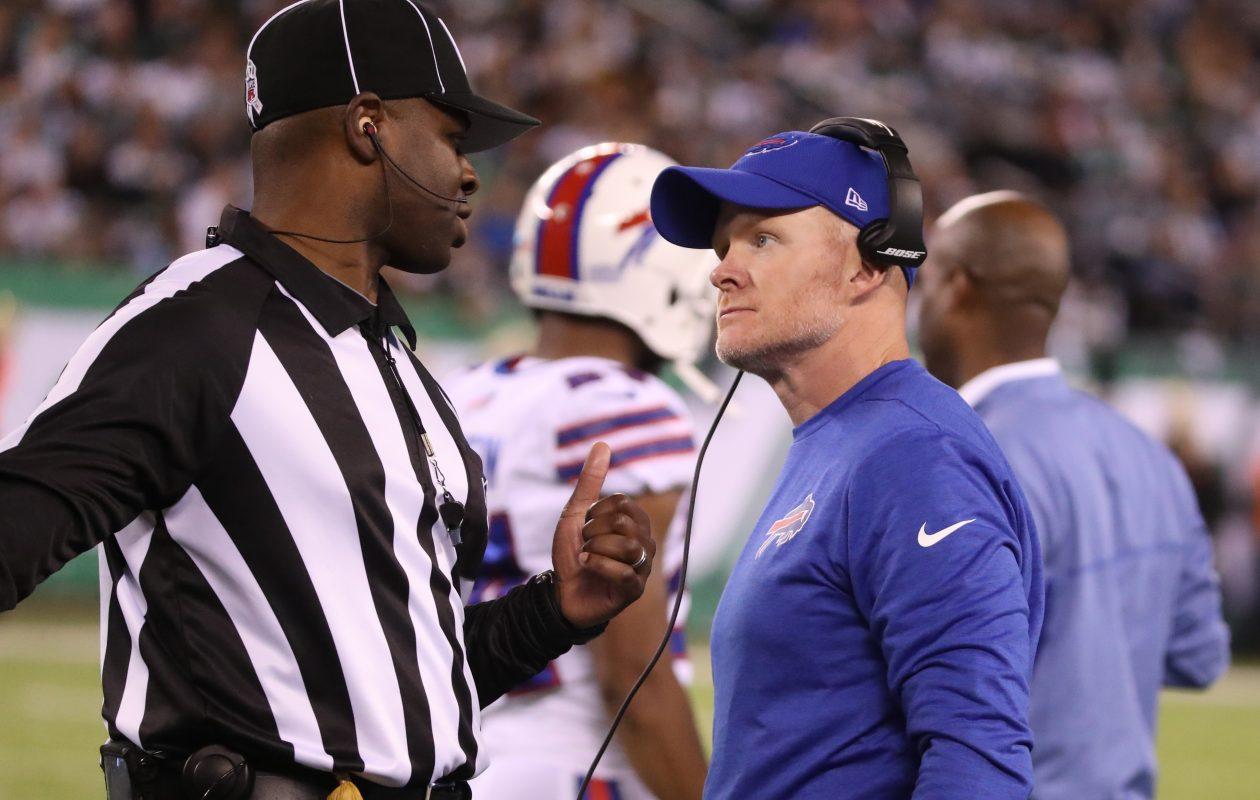 Buffalo Bills head coach Sean McDermott at MetLife Stadium. (James P. McCoy/Buffalo News)
