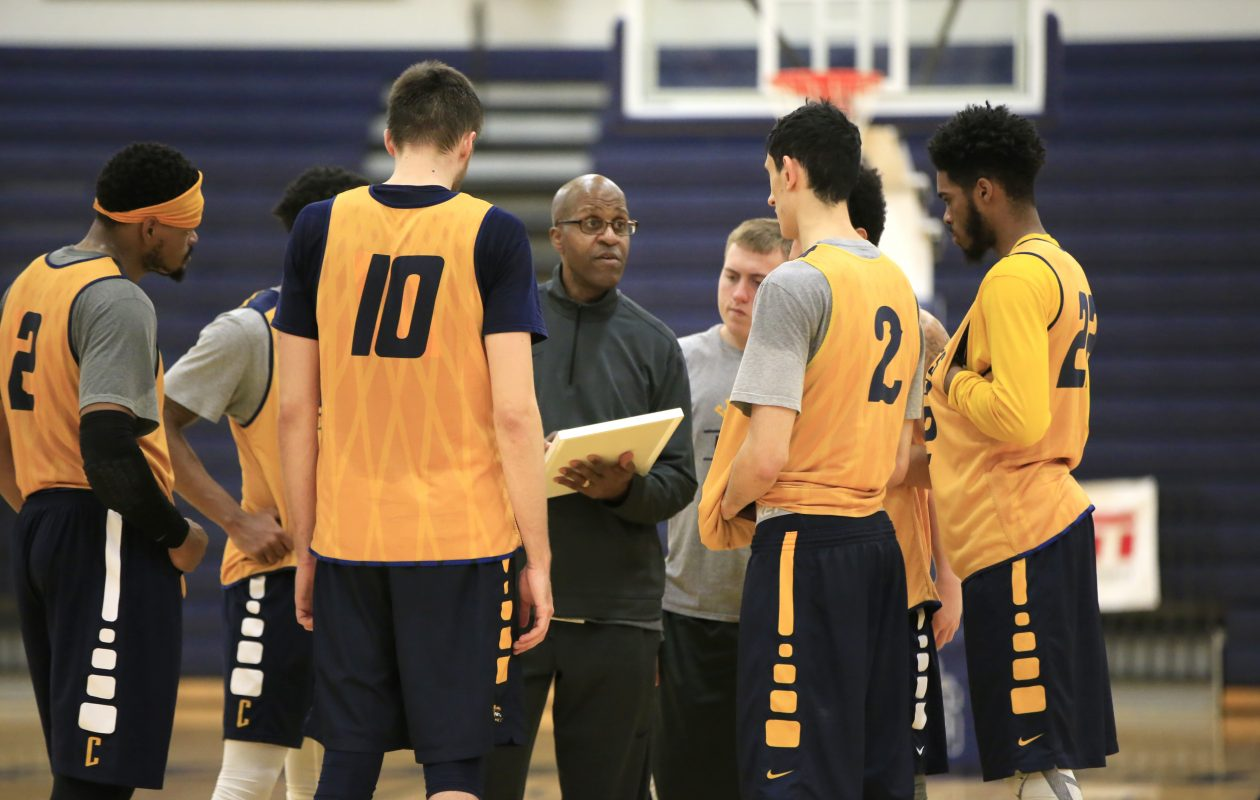 Canisius basketball coach Reggie Witherspoon during practice at the Koessler Center.  (Harry Scull Jr./ Buffalo News)