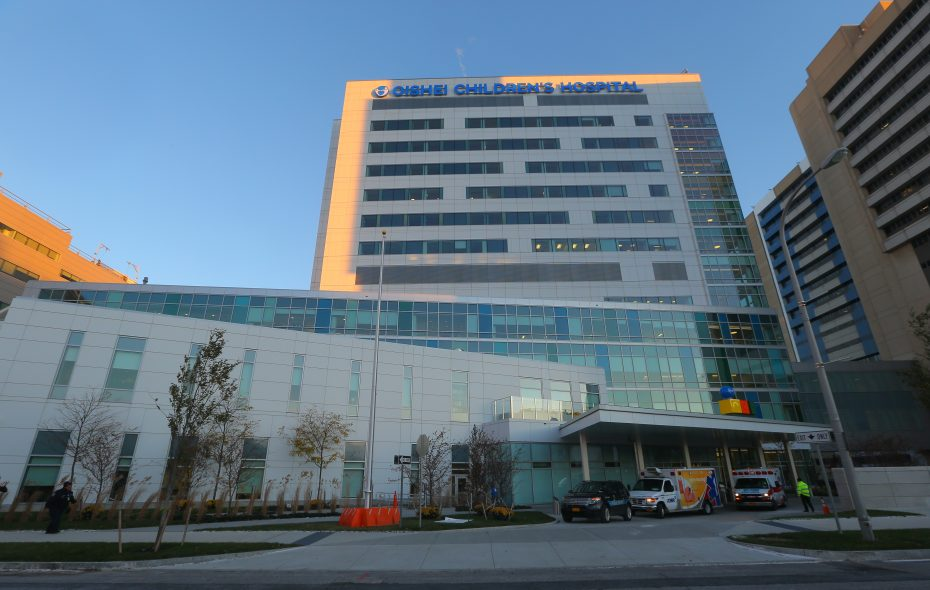 The new John R. Oishei Children's Hospital  at the Buffalo Niagara Medical Campus at 818 Ellicott St. (Buffalo News/John Hickey.)