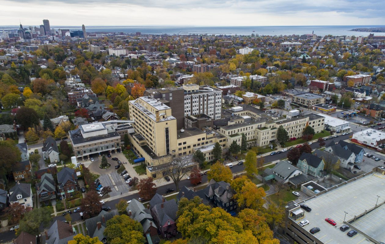 A redevelopment team is working to finalize plans for the former site of Women and Children's Hospital of Buffalo on Bryant Street.  (Derek Gee/Buffalo News)