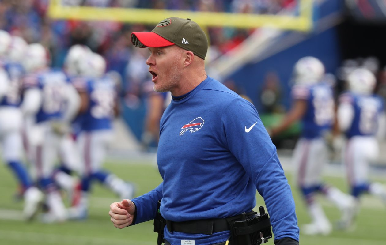 Bills coach Sean McDermott said after he was hired that his personality was to be aggressive on fourth-down situations. (James P. McCoy/Buffalo News)